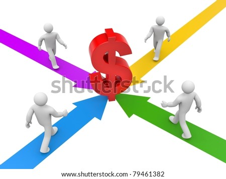 Profit. Image contain clipping path - stock photo