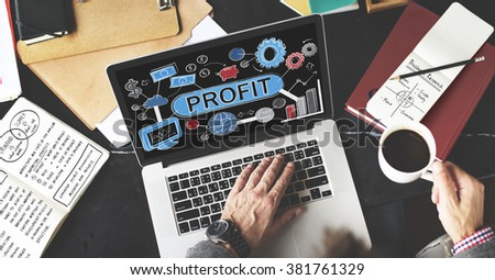 Profit Income Savings Banking Money Concept - stock photo
