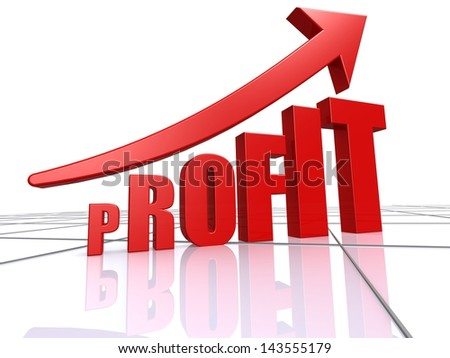 Profit increase - stock photo