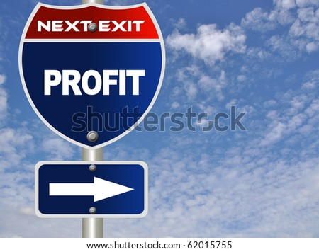Profit road sign - stock photo