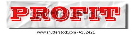 PROFIT sign - stock photo
