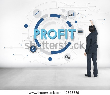 Profit Strategy Growth Business Finance Concept - stock photo