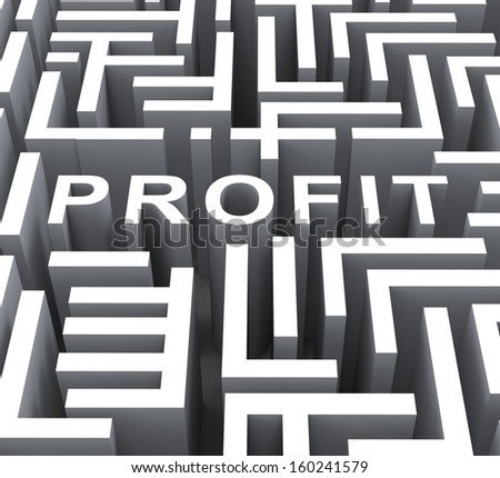 Profit Word Shows Financial Revenue Profits Or Earnings