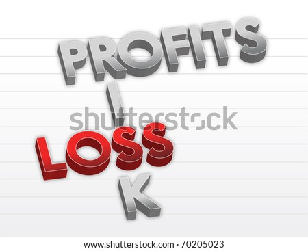 Profits risk and loss - stock photo