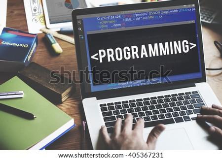 Program Programming Computer Technology Digital Concept - stock photo