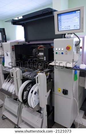 programmable production line - stock photo