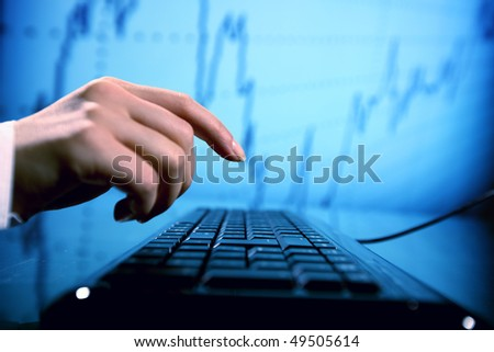 programmer have data - stock photo
