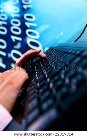 programmer have data info - stock photo