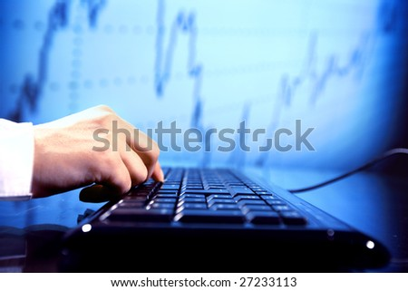 programmer have data info - stock photo