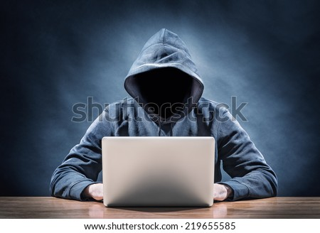 programmer on a computer - stock photo