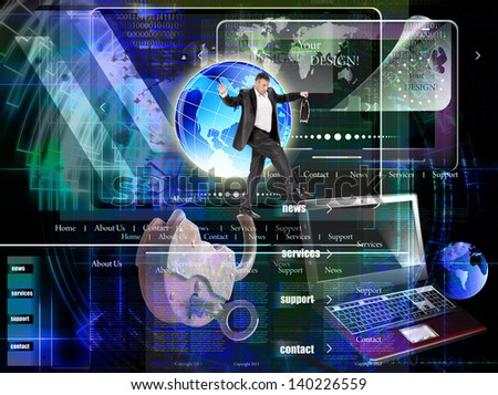 Programming Internet website network.Background - stock photo