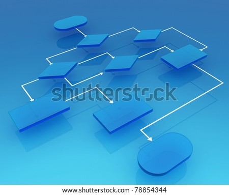 Programming the process - stock photo