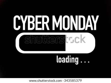 Progress Bar Loading with the text: Cyber Monday - stock photo