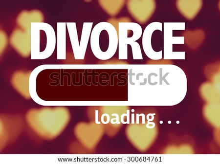 Progress Bar Loading with the text: Divorce