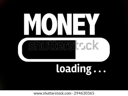 Progress Bar Loading with the text: Money - stock photo