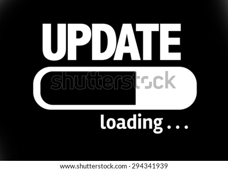 Progress Bar Loading with the text: Update - stock photo