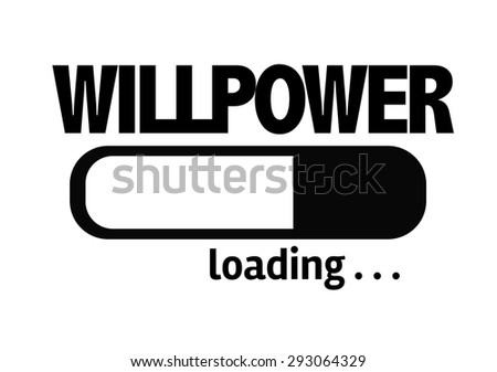 Progress Bar Loading with the text: Willpower  - stock photo
