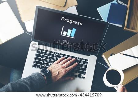 Progress Development Improvement Advancement Concept - stock photo