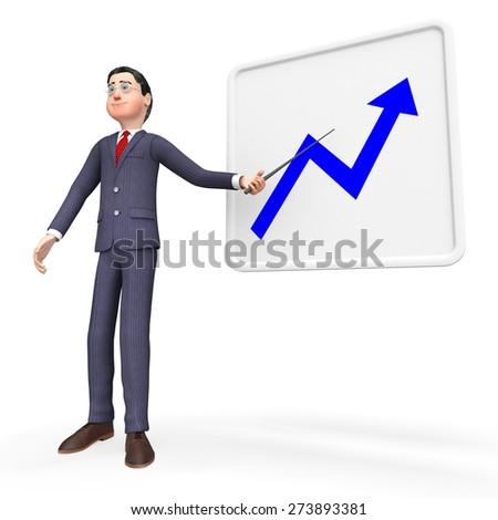 Progress Graph Showing Graphs Improvement And Progressive - stock photo