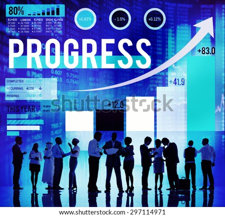 Progress Improvement Development Success Growth Concept - stock photo