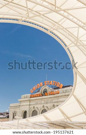 Progress of redevelopment of Union Station in Denver. - stock photo