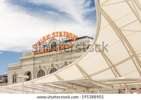 Progress of redevelopment of Union Station in Denver. - stock photo