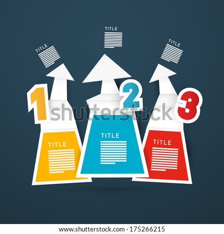 Progress Steps for Tutorial, Infographics - Also Available in Vector Version  - stock photo