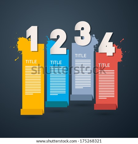 Progress Steps for Tutorial, Infographics- Also Available in Vector Version  - stock photo