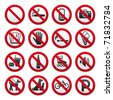 Prohibited Signs. Bitmap copy my image ID 71952808 - stock vector