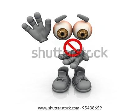 prohibited  symbol on a white background - stock photo