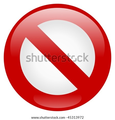 Prohibition Icon - stock photo