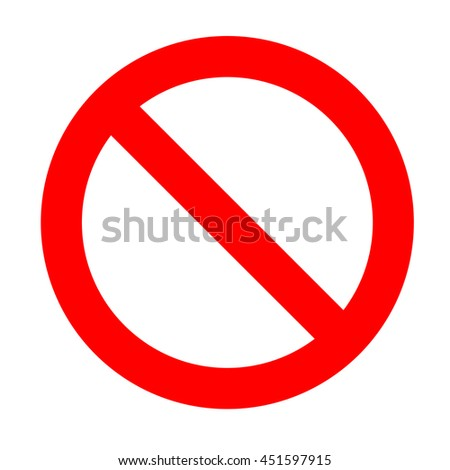 Prohibition sign isolated on a white background.