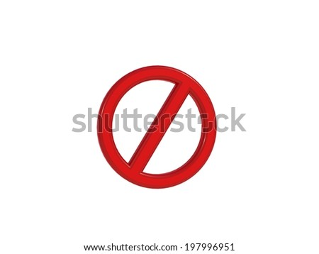 Prohibition sign prohibition sign - stock photo