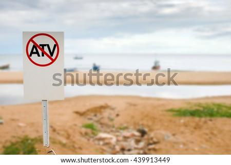 Prohibition Signs ATV - stock photo