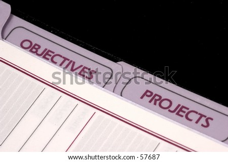 Project and Objective Planner