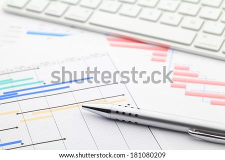 Project gantt chart - stock photo