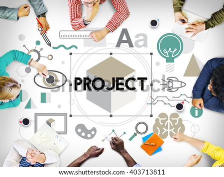 Project Information Start up Launch Concept - stock photo