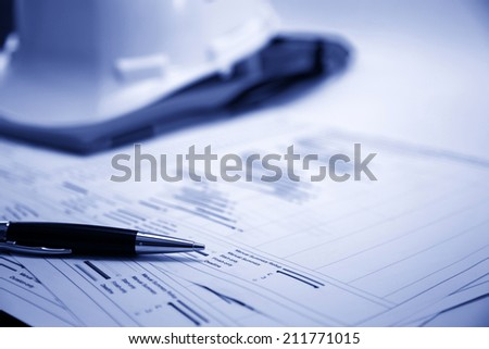 Project management - Construction project planning - stock photo