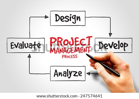 Project management process, business concept