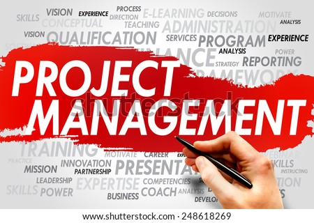 Project Management word cloud, business concept - stock photo