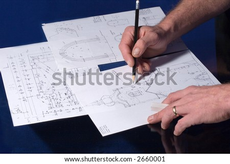 Project of a church - stock photo
