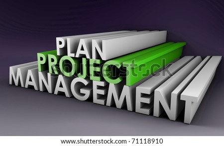 Project Planning and Management in 3D Format - stock photo