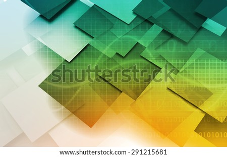 Project Planning and Management in 3D Format background - stock photo