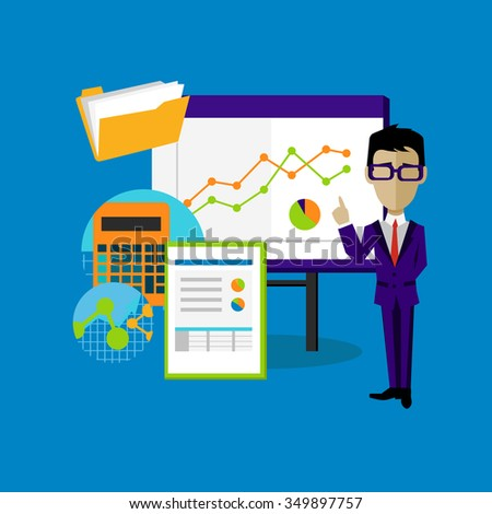 Project Presentation Concept Design Style Project Stock Illustration