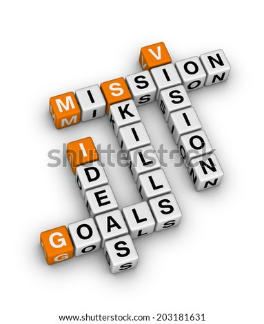 project setting (orange-white crossword series) - stock photo