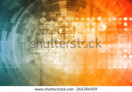 Projecting the Future in a Digital Art Abstract - stock photo