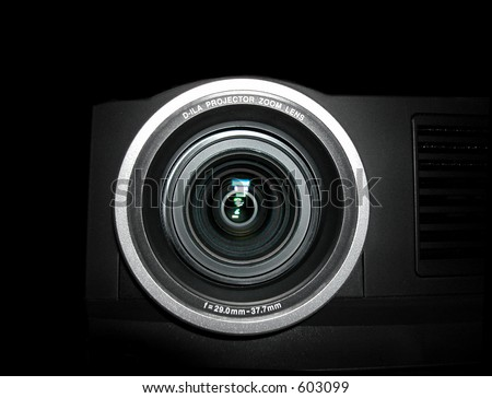 Projector lens - close up - stock photo