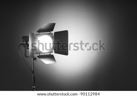 Projector lights wtih space for your text - stock photo