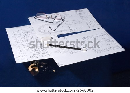 Projects of a renovation - stock photo