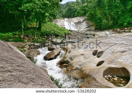 Prom Lok waterfall, Nakornsrithammarach, Thailand - stock photo